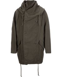 Ones Stroke - Layered Oversized Hooded Coat - Lyst