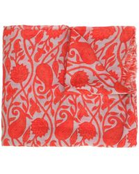 Closed | Leaves Print Scarf | Lyst