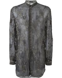 Unconditional - Embroidered Silk Shirt - Lyst