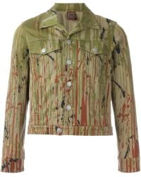 Jean Paul Gaultier - Printed Denim Jacket - Lyst