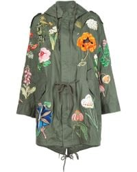 Creatures of the Wind - 'jarde' Hand Embroidered Parka - Lyst