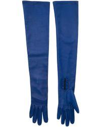 Oscar de la Renta - Long Buttoned Gloves - Lyst