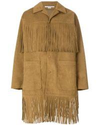 Stella McCartney - Fringed Buttoned Coat - Lyst