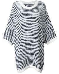 ANREALAGE - 'noise Border' Oversize Sweater - Lyst