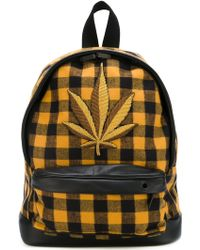Palm Angels - Logo Patch Checked Backpack - Lyst