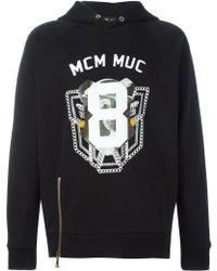 MCM - Logo Print Hoodie - Lyst