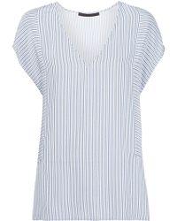 Jenni Kayne - V-neck Striped T-shirt - Lyst