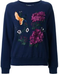 MUVEIL - Embellished Embroidered Sweatshirt - Lyst