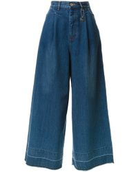 MUVEIL - High Waisted Wide Leg Jeans - Lyst
