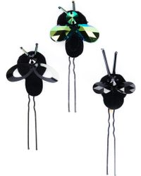 Piers Atkinson | Crystal Bug Hair Pins | Lyst