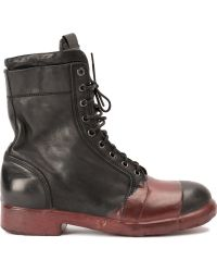 Oxs Rubber Soul - Stained Detail Lace-up Boots - Lyst