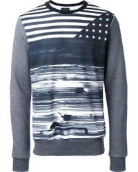 Yoshio Kubo - Flag Print Sweatshirt - Lyst