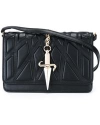 Cesare Paciotti - Quilted 'dagger' Cross Body Bag - Lyst