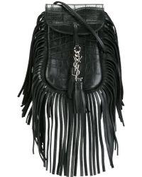 Saint Laurent - Toy Anita Fringed Leather Cross-Body Bag - Lyst