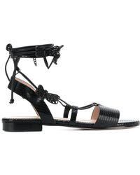 RED Valentino - Textured Strappy Sandals - Lyst