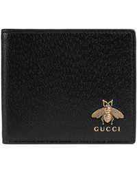 d77c81db907b Gucci - Animalier Leather Wallet - Lyst
