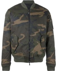 Hydrogen - Camouflage Print Bomber Jacket - Lyst