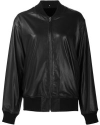 Peter Cohen - Leather Bomber Jacket - Lyst