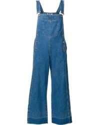 Steve J & Yoni P | Cropped Overalls | Lyst