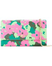 MUVEIL - Floral Print Chain Wallet - Lyst
