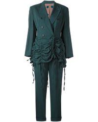 Jean Paul Gaultier - Curtain Effect Trouser Suit - Lyst