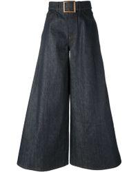 Jean Paul Gaultier - Flared Belted Jeans - Lyst