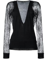 La Perla - 'leisuring' Lace Sleeve Jumper - Lyst