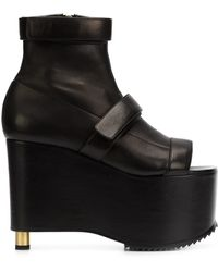 Vera Wang - Chunky Platform Leather Boots - Lyst