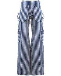 Richard Malone - Striped Wide-leg Trousers - Lyst