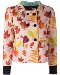Arthur Arbesser - Double Breasted Cropped Jacket - Lyst