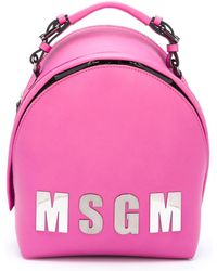 MSGM - Logo Front Backpack - Lyst