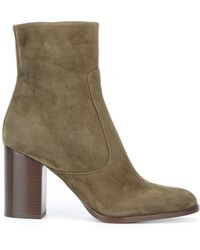 Veronique Branquinho - Chunky Heel Ankle Boots - Lyst