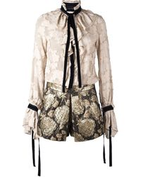 Christian Pellizzari - Embroidered Flower Playsuit - Lyst