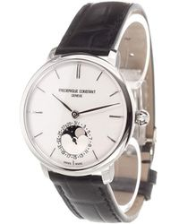 Frederique Constant - 'manufacture Slimline Moonphase' Analog Watch - Lyst