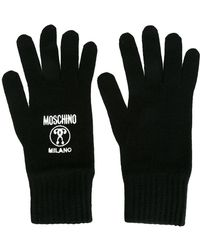Moschino - Logo Embroidered Gloves - Lyst