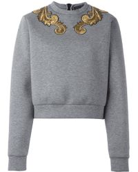 Christian Pellizzari - Embellished Neck Sweatshirt - Lyst