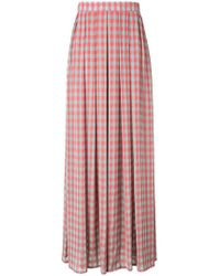 Ultrachic - Checked Pleated Skirt - Lyst