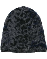 John Varvatos - Leopard Jacquard Knit Beanie - Lyst