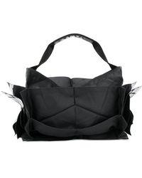 132 5. Issey Miyake - Structured Metallic Detail Tote Bag - Lyst