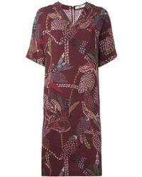 Hope - Printed V-neck Dress - Lyst