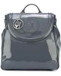 Armani Jeans - Logo Embossed Backpack - Lyst