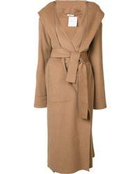 Barbara Casasola - Belted Hooded Coat - Lyst