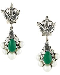Rada' - Radà Stone Embellished Pendant Earrings - Lyst