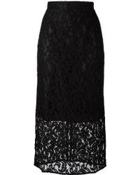 Gaëlle Bonheur - Floral Lace Midi Skirt - Lyst