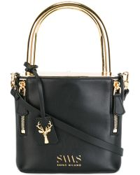 SAVAS - Metallic Top Handle Crossbody Bag - Lyst