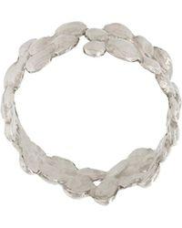Natasha Collis - 18kt White Gold Small Cobbled Ring - Lyst