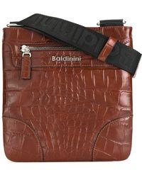 Baldinini - Crocodile Skin Effect Messenger Bag - Men - Leather - One Size - Brown