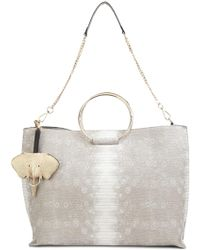 Christian Siriano - Snakeskin Effect Tote - Lyst