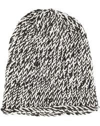 Greg Lauren - Bicolour Knit Beanie - Lyst