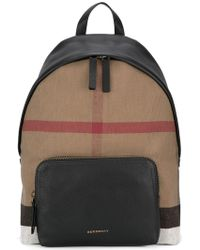 burberry outlet men zwi8  Burberry  Checked Backpack  Lyst